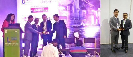 """GS Caltex India wins the """"Best Lubricant Company"""" at the Construction Opportunities Excellence Awards at Gurgaon , Delhi"""