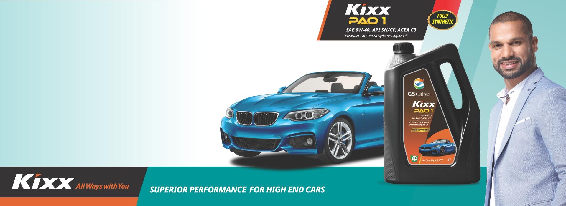 Kixx PAO 1 Synthetic Engine Oil